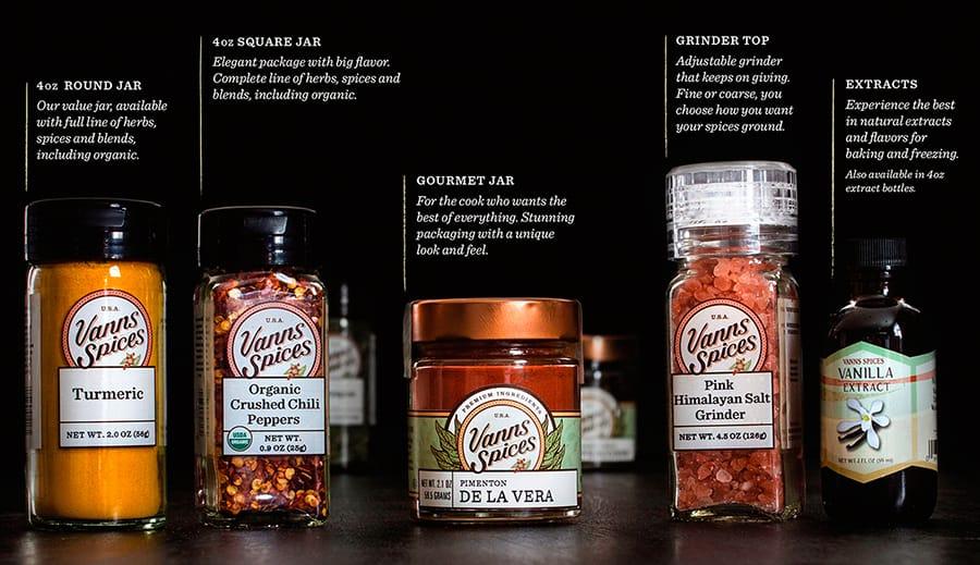 spice product lineup